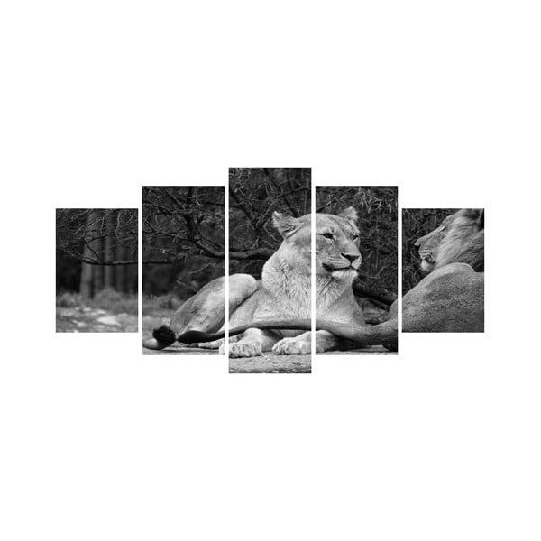 Vícedílný obraz Black&White no. 72, 100x50 cm