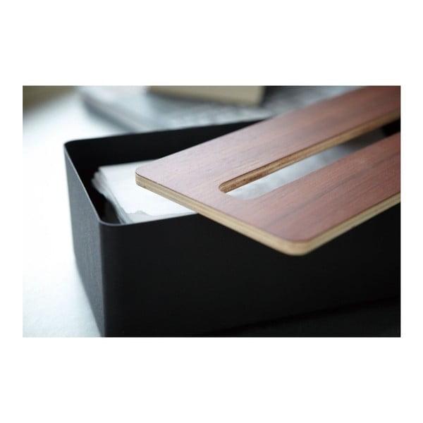 Černý box na papírové kapesníky YAMAZAKI Tsu