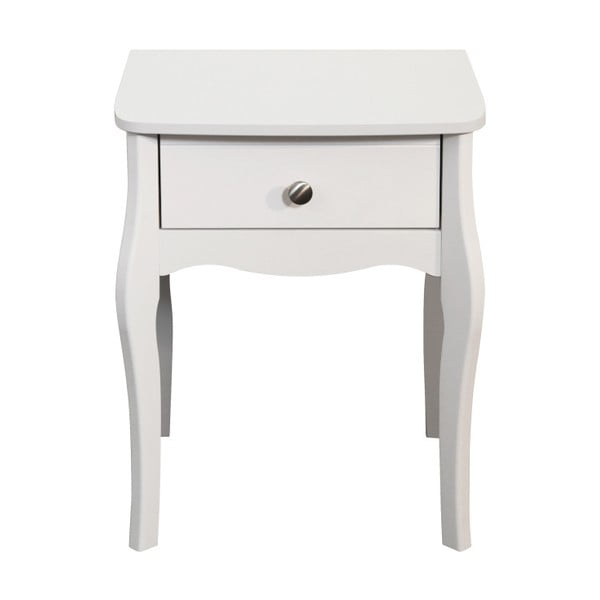 Bílý noční stolek Steens Baroque