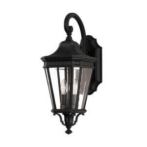 Černé nástěnné svítidlo Elstead Lighting Cotswold Lane Dos Black
