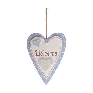 Dřevěná dekorace Welcome Heart