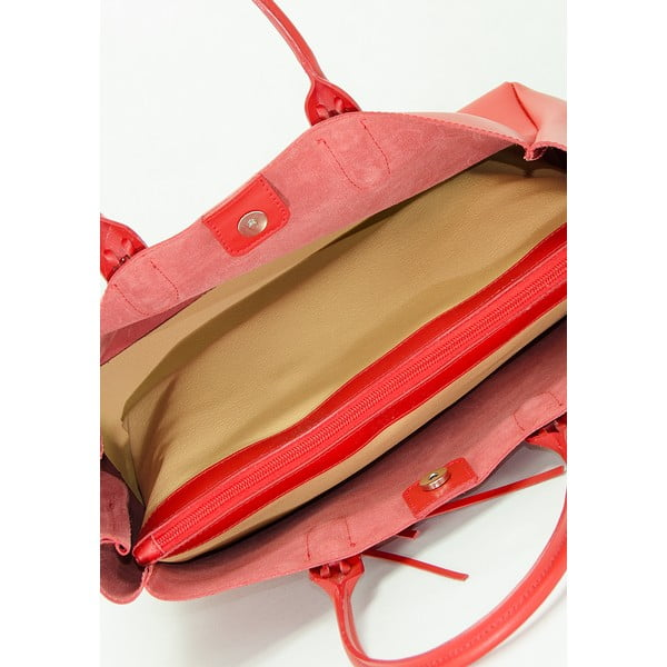 Kožená kabelka Lisa Minardi 2508 Red