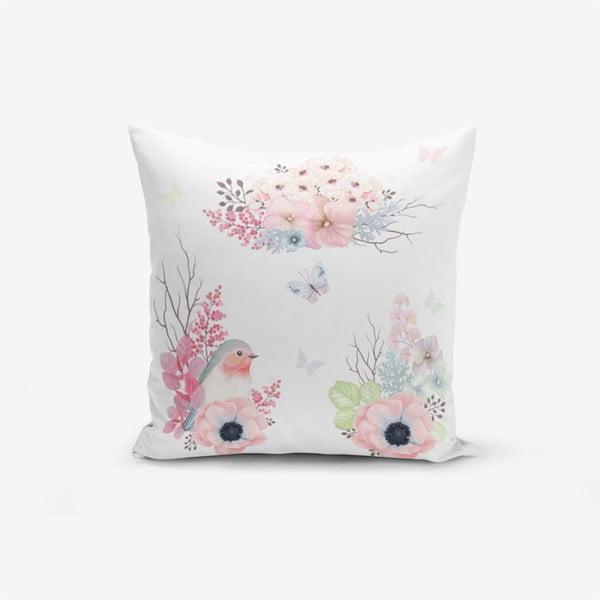Față de pernă cu amestec din bumbac Minimalist Cushion Covers Special Design Bird Modern, 45 x 45 cm