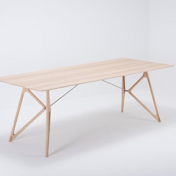 Masă din lemn masiv de stejar Gazzda Tink, 220 x 90 cm