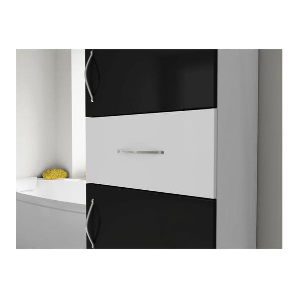 Skříň do koupelny Nergis Black/White