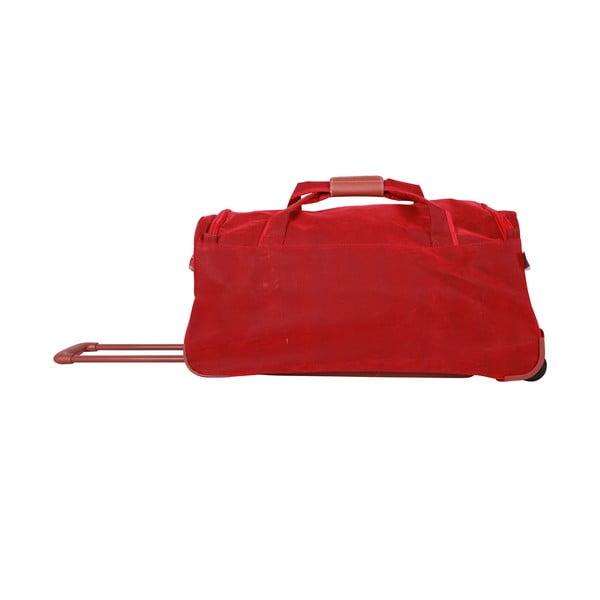 Cestovní taška na kolečkách Jean Louis Scherrer Red, 76.5 l