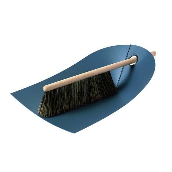 Lopatka s košťátkem s přírodními štětinami Broom, tnavě šedá