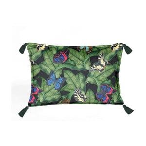Barevný dekorativní polštář Velvet Atelier Tropicana, 50 x 35 cm