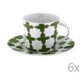 Set 6 căni din porțelan pentru ceai cu farfurioară Drosoula de la Unknown