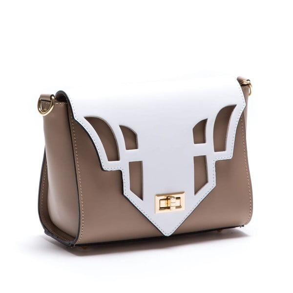 Béžová kožená kabelka Luisa Vannini