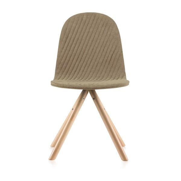 Scaun cu picioare în nuanță naturală IkerMannequinStripe, bej