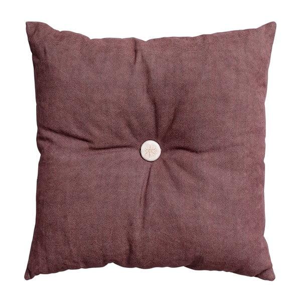 Polštář s výplní Button 45x45 cm, růžový