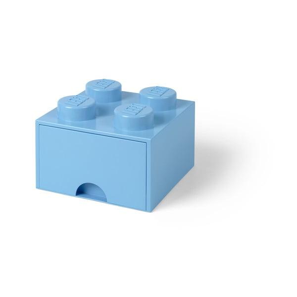 Světle modrý úložný box čtverec LEGO®