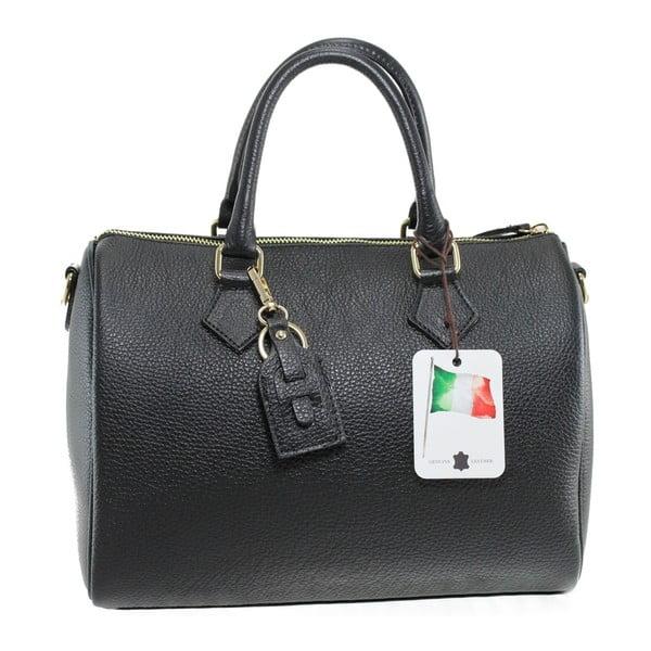 Černá kožená kabelka Rossi