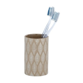 Suport ceramică pentru periuțe de dinți Wenko Tupian, bej de la Wenko