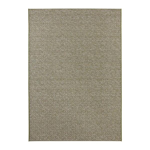 Covor potrivit pentru exterior Elle Decor Bloom Croix, 80 x 150 cm, verde
