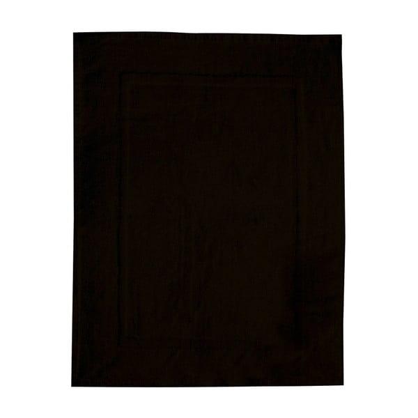 Čierna bavlnená kúpeľňová predložka Wenko, 50×70 cm