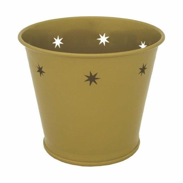 Kovový květináč Kovotvar s motivem hvězdy, 1.5 l