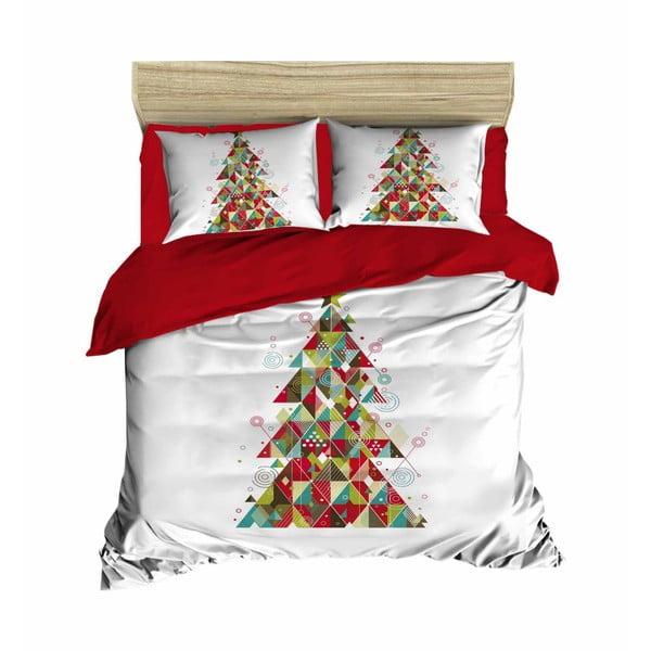 Ivana karácsonyi, kétszemélyes ágyneműhuzat lepedővel, 160 x 220 cm