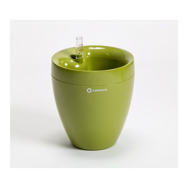 Zelený samozavlažovací kvetináč Plastia Calimera, ø17 cm