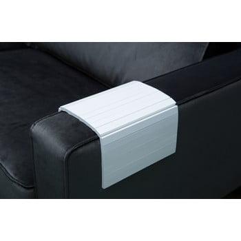 Cotieră/tavă din lemn pentru canapea WOOOD Tray, alb