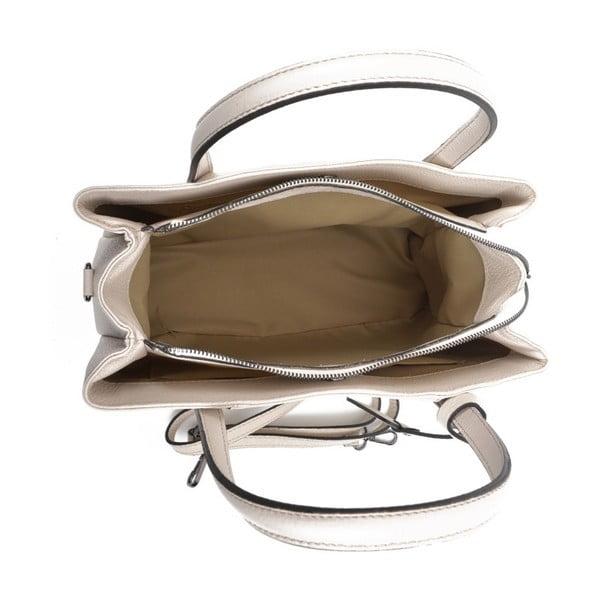 Béžová kožená kabelka Anna Luchini Marfusso