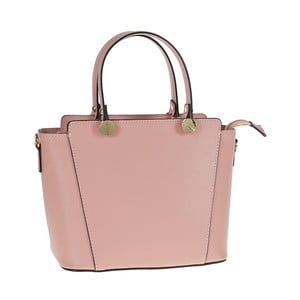 Růžová kožená kabelka Tina Panicucci Tula