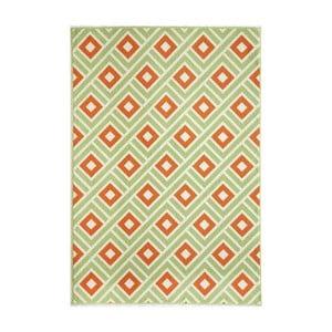 Zelený vysoce odolný koberec Webtappeti Greca Green,133x190cm