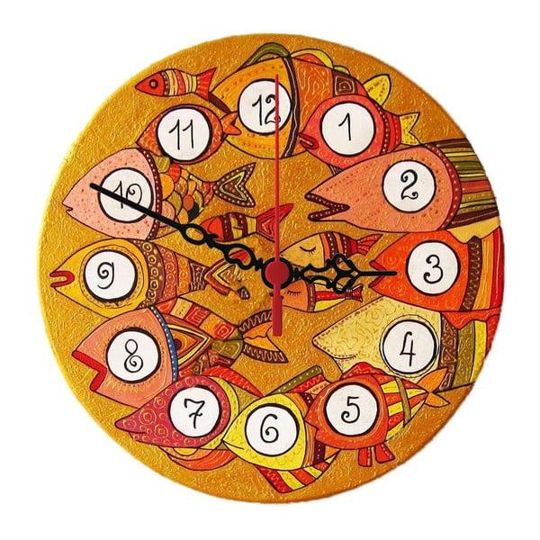 Nástěnné hodiny Fish Eye, 30 cm