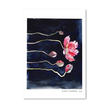 Poster Americanflat Blooms on Black III, 30 x 42 cm