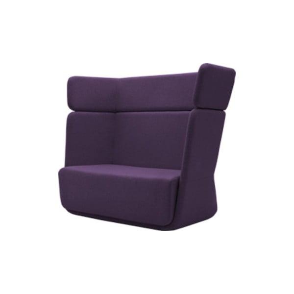 Ciemnofioletowy fotel Softline Basket Eco Cotton Lilac