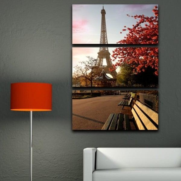 3dílný obraz Jaro v Paříži