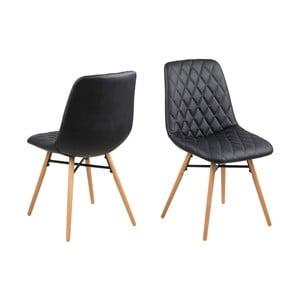 Set 2 scaune Actona Lif, negru