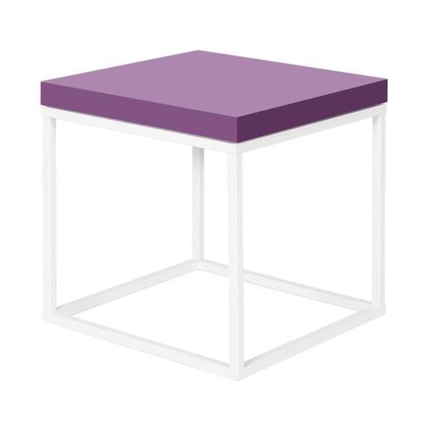Odkládací stolek s fialovou deskou TemaHome Prairie