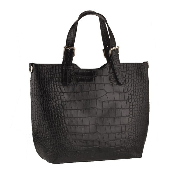 Kožená kabelka Pesca, černá