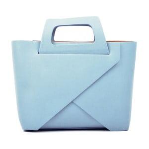 Světle modrá kožená kabelka Carla Ferreri Cross Celeste