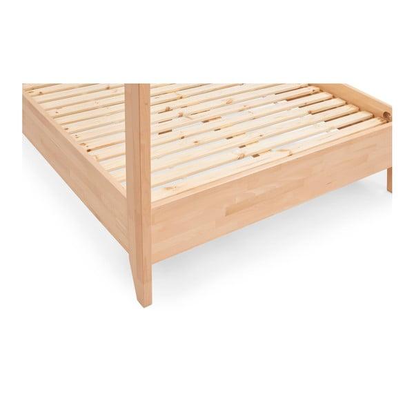 Dvoulůžková postel z masivního bukového dřeva SKANDICA Canopy, 140 x 200 cm