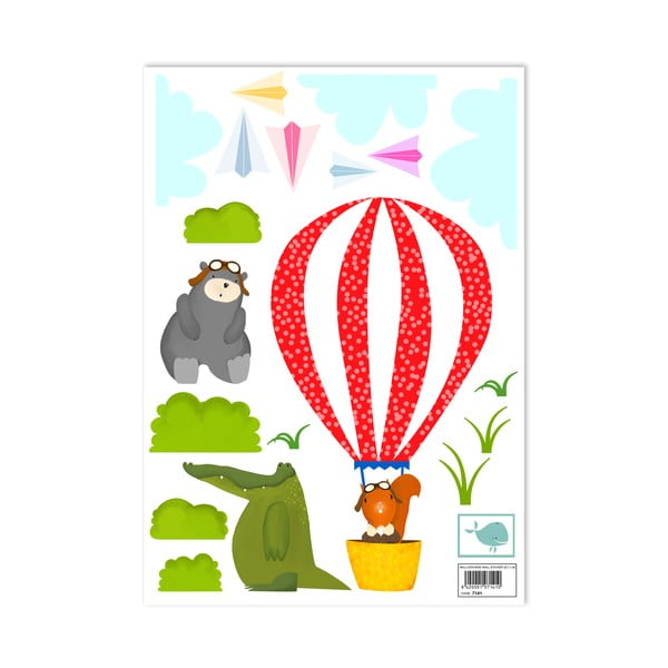 Samolepka na zeď Balloon Ride, 29,7x42 cm