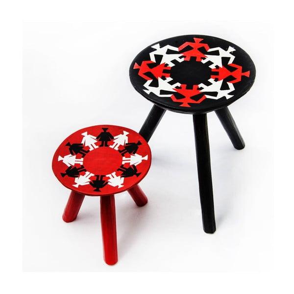 Sada 2 ručně malovaných stoliček Mandra