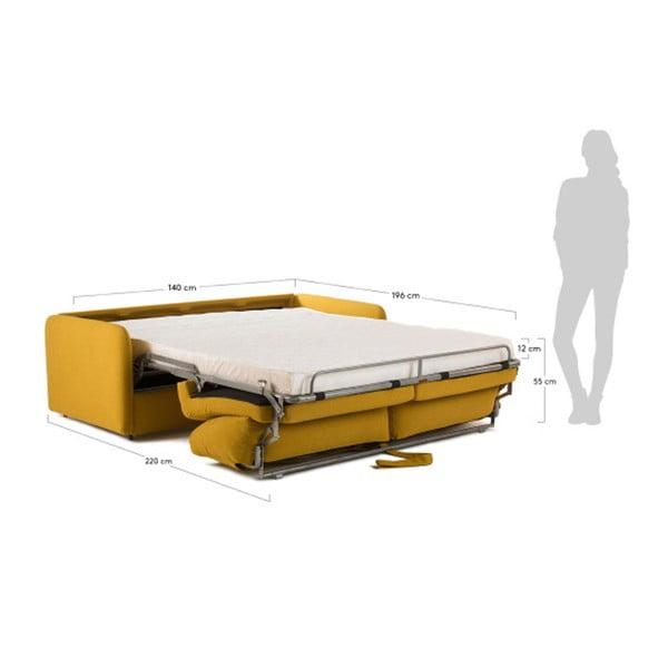 Hořčicově žlutá rozkládací pohovka La Forma Komoon