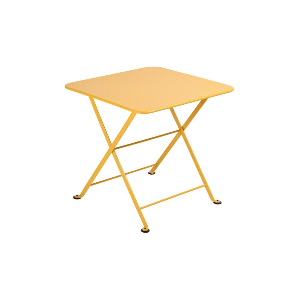 Žlutý dětský skládací kovový stůl Fermob Tom Pouce