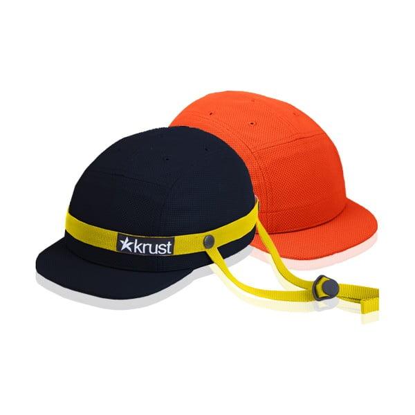 Cyklistická přilba Krust black/yellow/orange s náhradní čepičkou, velikost M/L