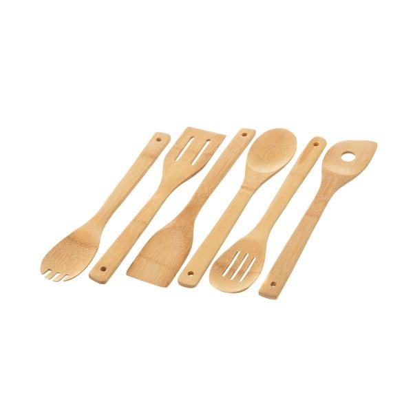Sada 6 kuchynských bambusových nástrojov Unimasa Bamboo