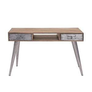 Konzolový stolek z mangového dřeva se 2 zásuvkami Canett Leipzig