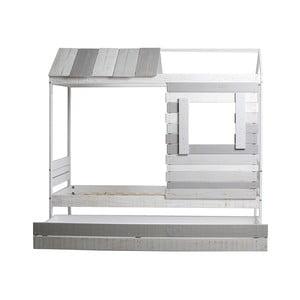 Šedo-bílá postel Marckeric Sia, 110 x 200 cm