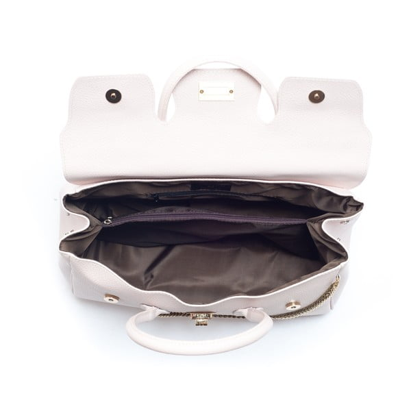Hnědá kožená kabelka Mangotti Deutzia