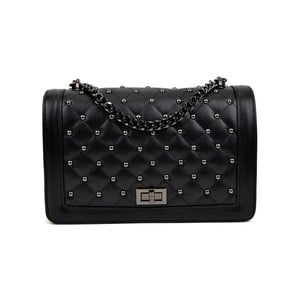 Černá kožená kabelka Isabella Rhea Ilia