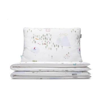 Lenjerie de pat din bumbac Mumla Maps, 90 x 120 cm imagine