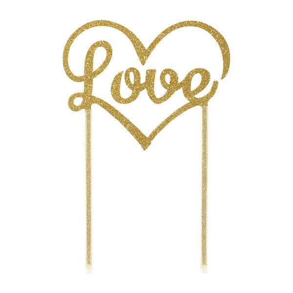 Dekorace na dort Love Gold