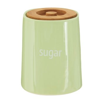 Recipient pentru zahăr cu capac din lemn de bambus Premier Housewares Fletcher, 800 ml, verde imagine